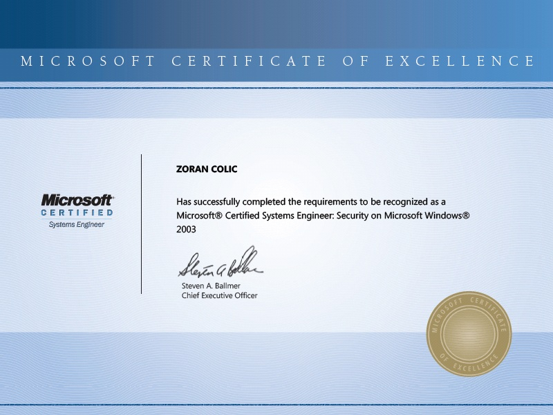 Microsoft Certified Professional Mcp 6002026